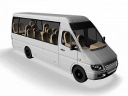 Mercedes sprinter minibus 3d model