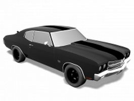 1972 Chevelle SS coupe 3d model