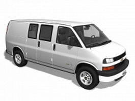 Chevrolet Express van 3d model