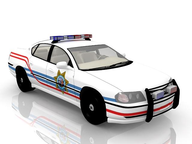 Chevrolet Police Car 3d Model 3ds Max Files Free Download Modeling