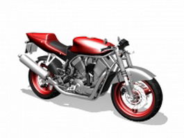 Street racing motorcycle 3d model