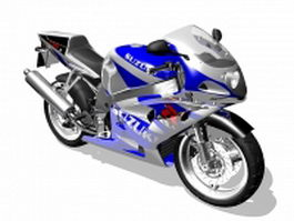 Suzuki GSR750 sports motorcycle 3d model