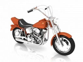Power cruiser motorcycle 3d model
