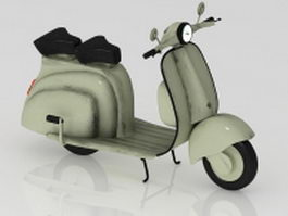 Electric scooter moped 3d model