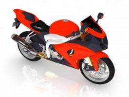 Dual-sport motorcycle 3d model