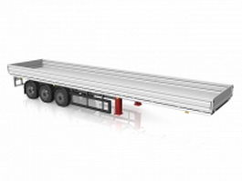 Flat bed trailer 3d model