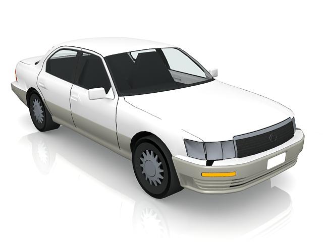 White Lexus car 3d model