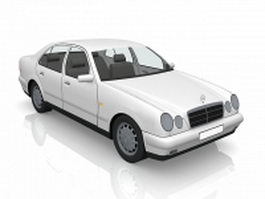 White Mercedes-Benz car 3d model