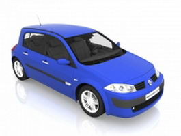 Renault Megane small family car 3d model