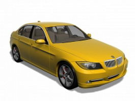 Yellow BMW car 3d model