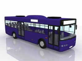 Blue bus 3d model