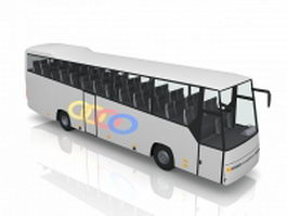 Long-distance intercity bus 3d model