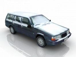 Snow-Covered Car 3d model