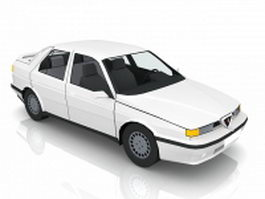 White classic car 3d model