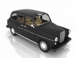 Old vintage car 3d model
