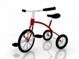 Children tricycle 3d model