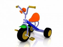 Kids tricycle bike 3d model