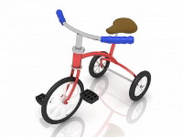 Tricycle bike for kids 3d model