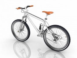 Freeride mountain bike 3d model