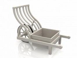 Medieval farm garden cart 3d model