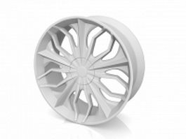 Aluminum wheel 3d model
