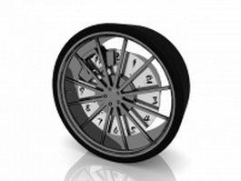 Spoke car wheel 3d model