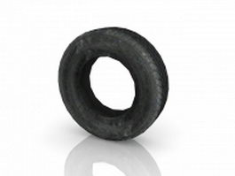 Old rubber tire 3d model