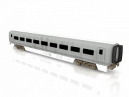 Passenger train car 3d model
