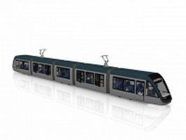 Urban street tramcar 3d model