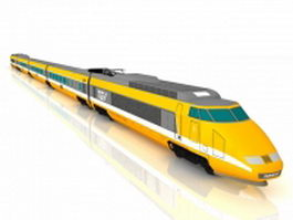 SNCF high-speed train 3d model