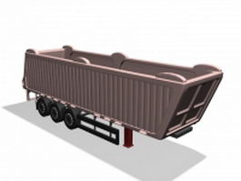 Mineral transportation trailer 3d model