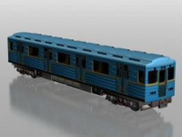 Metro train car 3d model