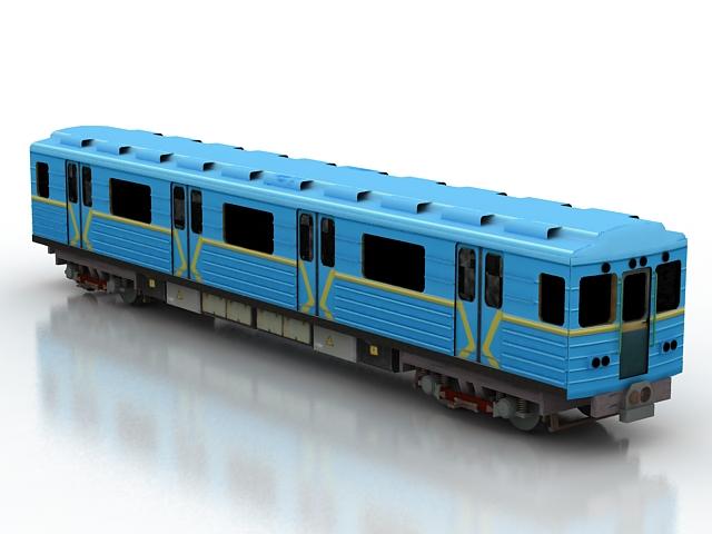 Metro Train Car 3d Model 3D Studio3ds Max Files Free