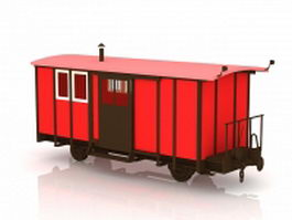 Train dining car 3d model
