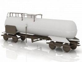 Train tank car 3d model