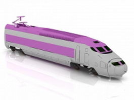 High-speed rail engine 3d model