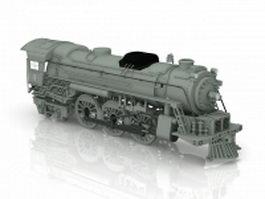 Steam engine locomotive 3d model