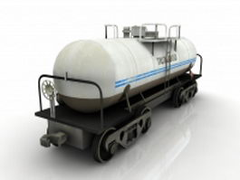 Small tank car 3d model