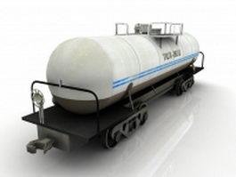 Oil tank car 3d model