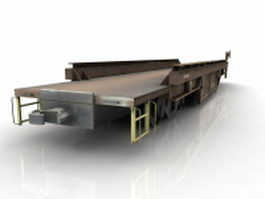 Railroad flatcar 3d model