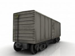 Railroad boxcar goods van 3d model