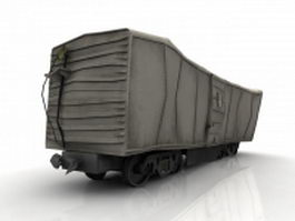 Train boxcar wreck 3d model