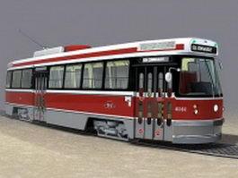 Classic tramcar 3d model