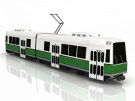 Electric tram car 3d model