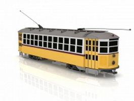 Electric trolley car 3d model