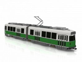 Electric streetcar 3d model