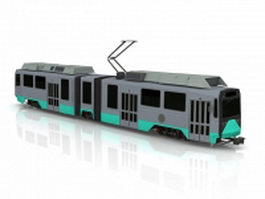 Electric street car trolleys 3d model