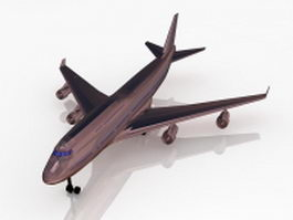 Wide-body airliner 3d model