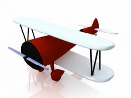 Animated cartoon plane 3d model