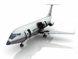 Plane crash 3d model